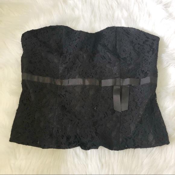 272869d23 Lane Bryant Tops - Lane Bryant Black Strapless Lace Corset Top